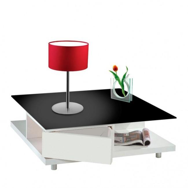 Olux illuminazione lampada da tavolo paralume tessuto moderna t1 roary rosso 4 s p communication - Lampada da tavolo moderna ...